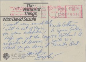 A postcard from David Suzuki in response to The Global Menu